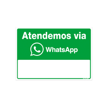 "Placa Alumínio ""WhatsApp"" 16x23cm 150AQ Sinalize"