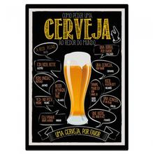 Placa Cerveja 21x30cm