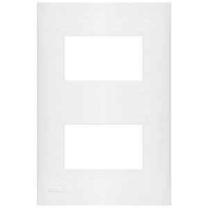 Placa com  Sup 4X2 2 Módulos Separados Plast Abs Br Imperia Iriel