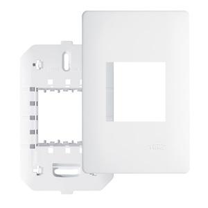 Placa com suporte 4X2 Branco Habitat Fame