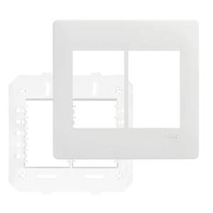 Placa com suporte 4X4 Branco Habitat Fame