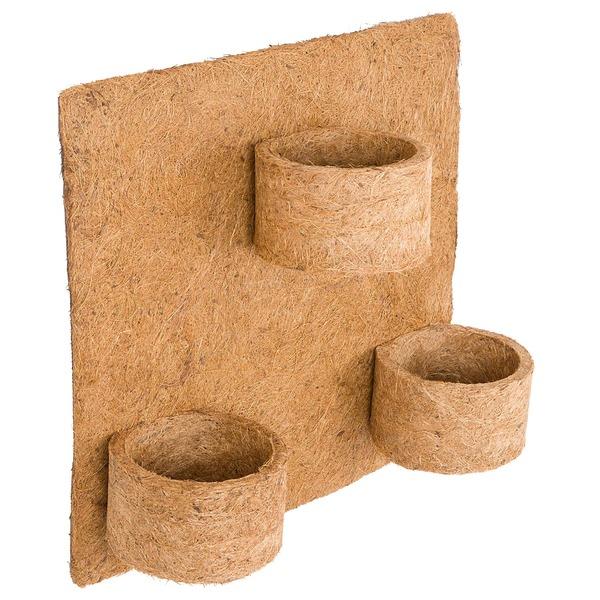 Painel para jardim vertical fibra de coco 3 vasos 32x30cm for Fibra ceramica leroy merlin