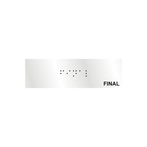 """Placa de Sinalização Alumínio """"Final"""" 10x3cm Sinalize"""