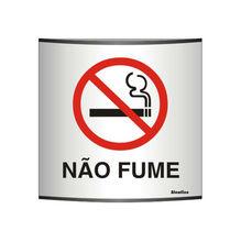 Placa de sinalização em Alumínio Sem braille 14x14 Proibido fumar