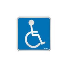 Placa de sinalização em Alumínio Sem braille 15x15 Deficiente Fisico