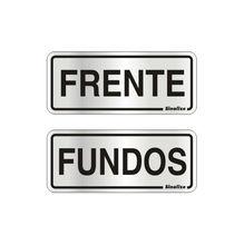 Placa de sinalização em Alumínio Sem braille 15x15 Frente/ Fundos