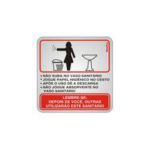 Placa de sinalização em Alumínio Sem braille 15x15 Sanitário Feminino