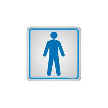 Placa de sinalização em Alumínio Sem braille 15x15 Sanitário Masculino