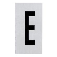 Placa de sinalização em Alumínio Sem braille 2,5x5 Letra E