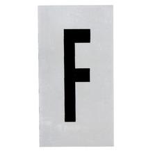 Placa de sinalização em Alumínio Sem braille 2,5x5 Letra F
