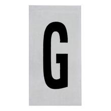 Placa de sinalização em Alumínio Sem braille 2,5x5 Letra G