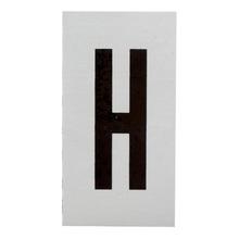 Placa de sinalização em Alumínio Sem braille 2,5x5 Letra H