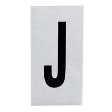 Placa de sinalização em Alumínio Sem braille 2,5x5 Letra J