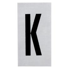Placa de sinalização em Alumínio Sem braille 2,5x5 Letra K