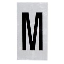 Placa de sinalização em Alumínio Sem braille 2,5x5 Letra M