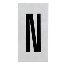 Placa de sinalização em Alumínio Sem braille 2,5x5 Letra N