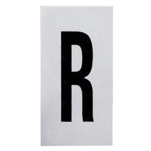 Placa de sinalização em Alumínio Sem braille 2,5x5 Letra R