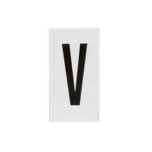 Placa de sinalização em Alumínio Sem braille 2,5x5 Letra V
