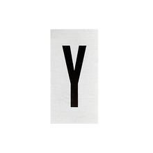 Placa de sinalização em Alumínio Sem braille 2,5x5 Letra Y
