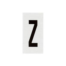 Placa de sinalização em Alumínio Sem braille 2,5x5 Letra Z