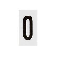 Placa de sinalização em Alumínio Sem braille 2,5x5 Numero 0