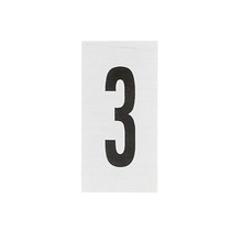 Placa de sinalização em Alumínio Sem braille 2,5x5 Numero 3