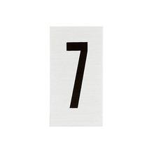 Placa de sinalização em Alumínio Sem braille 2,5x5 Numero 7