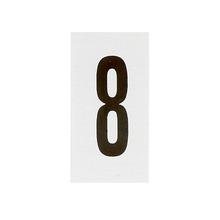 Placa de sinalização em Alumínio Sem braille 2,5x5 Numero 8