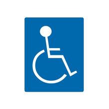 Placa de sinalização em Poliestireno Sem braille 15x20 Deficiente Fisico
