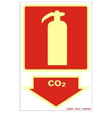 Placa de sinalização em Poliestireno Sem braille 20x30 Extintor CO2