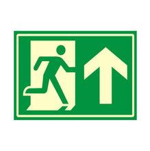 Placa de sinalização em Poliestireno Sem braille 20x30 Saída de emergência sobe