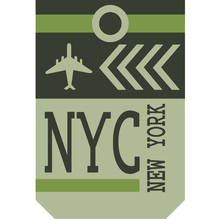 Placa Decorativa  NYC 20x30cm