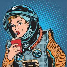 Placa Decorativa Astronauta 25x25cm