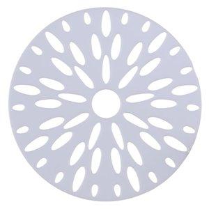 Placa Decorativa Branca 29cm Folha Inspire