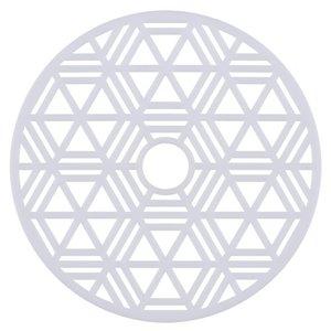 Placa Decorativa Branca 29cm Hexágono Inspire