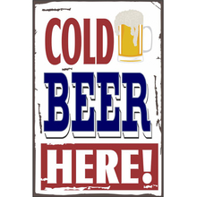 Placa Decorativa Cold Beer 20x30