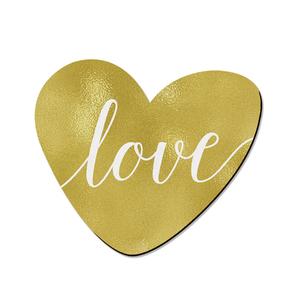 Placa Decorativa Coração Love 18x21m
