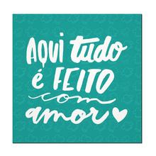Placa Decorativa Feito com Amor 17x17