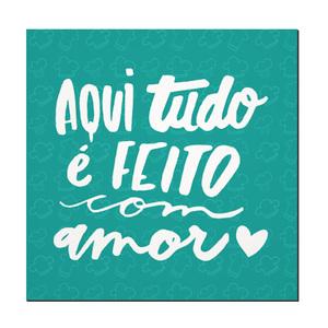 Placa Decorativa Feito Com Amor 17x17cm Inspire Leroy Merlin