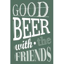 Placa Decorativa Good Beer 20x30