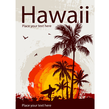 Placa Decorativa Hawaii 20x30