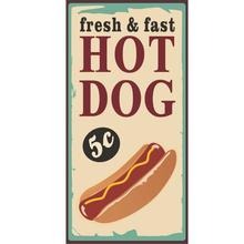 Placa Decorativa Hot Dog 25x50cm