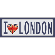Placa Decorativa I Love London 10x30cm