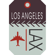 Placa Decorativa Los Angeles Lax 20x30cm