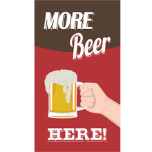 Placa Decorativa More Beer 25x50cm