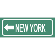Placa Decorativa New York 10x30cm
