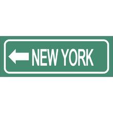 Placa Decorativa New York 10x30cm