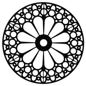 Placa Decorativa Preta 29cm Empire Inspire