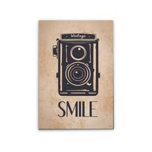 Placa Decorativa Radio Smile 29x20cm