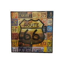 Placa Decorativa Route 66 25x25